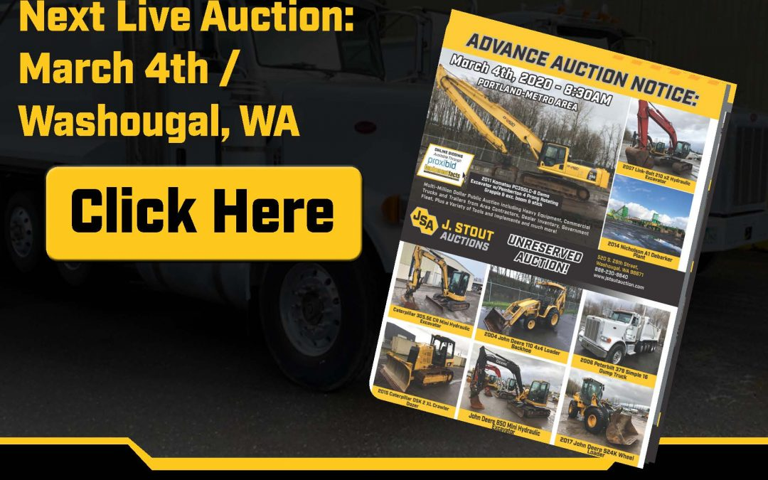 J. Stout Auctions' Releases Electronic Brochure for March 4th Auction